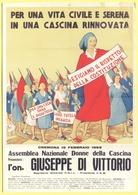 """Tematica - Sindacati - CGIL - Centenari Delle Camere Del Lavoro - Manifesto Del 1953 """"Per Una Casa Sana E Decorosa"""" - No - Sindacati"""