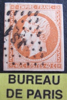 "DF50500/25 - NAPOLEON III N°16a Orange Vif - BUREAU "" JS1 "" De PARIS - Cote : 35,00 € - 1853-1860 Napoléon III"