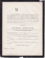 BRUXELLES WEMMEL Wilhelmine JACOBS 34 Ans 1881 épouse Alfred MERCIER Famille BRAINE-LALLEUD - Décès