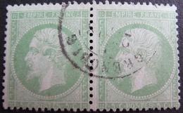 DF50500/27 - NAPOLEON III (PAIRE) N°20 (dos Propre) - CàD De GRENOBLE - 1862 Napoléon III