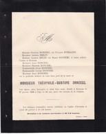 AVENNES Théophile-Gustave DONCEEL 63 Ans 1896 Famille EVERARTS - Décès