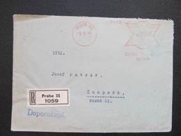 BRIEF Praha 35 Zalozna Vinohradska 1946 Frankotype Postfreistempel // L3920 - Briefe U. Dokumente