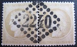 DF50500/30 - CERES (PAIRE) N°59 - GC 2240 : MARSEILLE - 1871-1875 Cérès