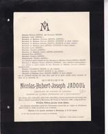 BERNISSEM SCHURHOVEN Nicolas JADOUL Membre Conseil Supérieur De L'Agriculture époux ADAMS 67 Ans 1905 DANDOY - Overlijden