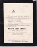 GLAIN Ernest CANDEZE Veuf Elise ABRY 72 Ans 1898 Docteur Académie Royale De Médecine Familles LECHAT BOUGARD - Décès