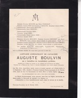 14-18 FONTAINE-VALMONT Capitaine Auguste BOULVIN 2 Carabiniers Cyclistes 1888-1919 Décoré Ordre St-Stanislas De Russie - Obituary Notices