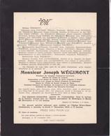RESTEIGNE VIEUX-VILLE Joseph WEGIMONT Président Du Comptoir Commercial Anversois 1847-1910 PONCELET - Overlijden