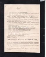 GOZEE Région Thuillies Edmond LOSSEAU 69 Ans 1891 Familles BEDORET De SAINT-HUBERT SEMAL WAUTIER LOIS - Overlijden