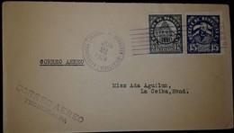 O) 1928 HONDURAS, PRESID. MARCO AURELIO SOTO SCT 251 15c, PRESIDENTIAL PALACE SCT 219 6c-ARCHITECTURE, CORREO AEREO TEGU - Honduras