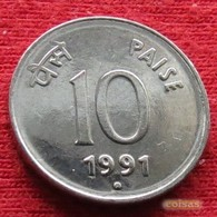 India 10 Paise 1991 N  KM# 40.1  Inde - India