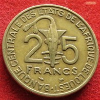 West African States 25 Francs 1995 KM# 9  Africa Afrika Afrique - Monnaies