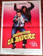 AFFI CINE ORIG INSPECTEUR LA BAVURE COLUCHE ZIDI DEPARDIEU 1980 40X60 - Affiches & Posters