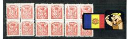 ANDORRA ANDORRE Timbres Taxe Hosteleria CONSELL GENERAL  B/4 - Stamps