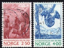 1985 NORWAY 2.50Kr & 1.00Kr Used Complete Stamp Set  ELECTRICITY SUPPLY - Norvège