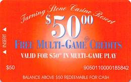 Turning Stone Casino - Verona NY - $50 Free Multi-Game Credits XX6 Issue (See Description For Details) - Cartes De Casino