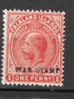 ##19, Falkland Islands, George V, War Stamp, Surimpression, Overprint - Falkland
