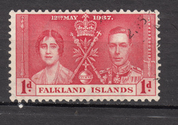 ##19, Falkland Islands, George VI, Couronnement, Coronation, Bijoux, Jewels, épée, Sword - Falkland