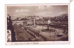 LISBOA Praca D Pedro Rossio STAMP Cancel Postal Mark Uss New Jersey - Lisboa