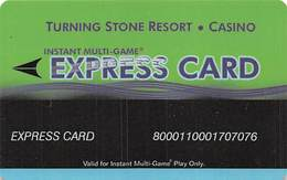Turning Stone Casino - Verona NY - Instant Multi-Game Express Card - XX11c Issue (See Description For Details) - Cartes De Casino
