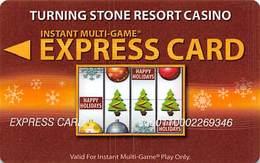Turning Stone Casino - Verona NY - Instant Multi-Game Express Card - XX11g Issue - Cartes De Casino