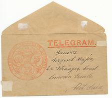 TELEGRAMME TELEGRAM THE EASTERN TELEGRAPH COMPAGNY * LIMITED * ADRESSE MILITAIRE DU 2EME REGIMENT ETRANGER ( LEGION ) A - Marcophilie (Lettres)