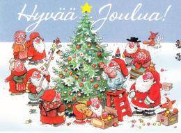 Santa Clauses Decorating The Christmas Tree - Mauri Kunnas - Santa Claus