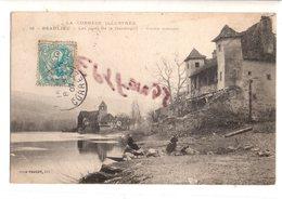 CPA: BEAULIEU Les Rives De La Dordogne Vieille Maison (animée) - Other Municipalities