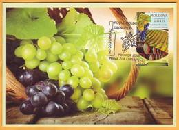 2018 Moldova Moldavie Moldau Maxicard  Wine Tourism. Wine. Grapes. Vineyard. Wine Barrel - Moldavie