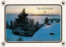 Winter Scene - Landscape - Paysage De Scène D'hiver - Pro Natura Suomi Finland - WWF Panda Logo (golden) - Flowers, Plants & Trees