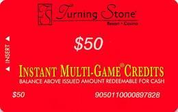 Turning Stone Casino - Verona NY - $50 Instant Multi-Game Credits - XX17 Issue (See Description) - Casino Cards