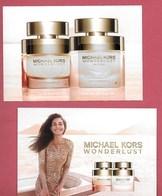 F-  New !! Carte Michael KORS Avec 2 Patchs - Wonderlust - Perfume Card - UK - Cartes Parfumées