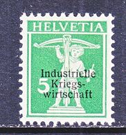 SWITZERLAND  1 O 2  *   WAR  TRADE - Dienstzegels