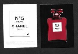 F-  New !! Petite Carte Chanel - Chanel 5 Avec Patch - Perfume Card - Cartes Parfumées