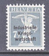 SWITZERLAND  1 O 11  *   WAR  TRADE - Dienstzegels