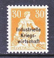 SWITZERLAND  1 O 16   *   WAR  TRADE - Dienstzegels