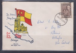 Malaysia, Selangor 1957 Definitive FDC - Malaysia (1964-...)