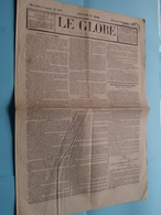 LE GLOBE - 4e Année, N° 318 ( Edit. Du Soir / Gazette )  : Lundi 13 Novembre 1844 - BRUXELLES ( Aug. Jeunesse ) ! - Libros, Revistas, Cómics