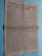 LE GLOBE - 5e Année, N° 293 ( Edit. Du Soir / Gazette )  : Lundi 20 Octobre 1845 - BRUXELLES ( Aug. Jeunesse ) ! - Anciens