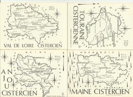 2841 Lot De 5 CPSM France Et Régions Cisterciennes - Maps