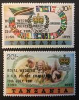 TANZANIA - (O) - 1981 - # 179/180 - Tanzanie (1964-...)