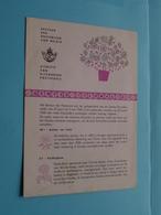GENTSE FLORALIËN ( Folder 1960 Met Zegels Afgestempeld ) ( Malvaux Brussel : Zie/voir Photo ) ! - Documents De La Poste