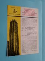 400e Verjaring Verheffing STAD MECHELEN ( Folder 1961 Met Zegels Postfris ) ( Malvaux Brussel : Zie/voir Photo ) ! - Postdokumente