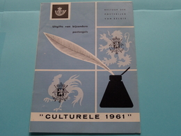 """"""" CULTURELE 1961 """" ( Folder Met Zegels Afgestempeld ) ( Malvaux Brussel : Zie/voir Photo ) ! - Documents De La Poste"""