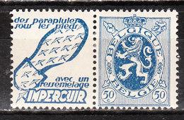 PU33*  Lion Héraldique - Impercuir - Bonne Valeur - MH* - LOOK!!!! - Publicités