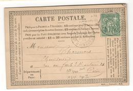 13016 - Sage  10 C Vert Type II - Marcophilie (Lettres)