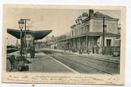 CPA  94 : VILLENEUVE ST GEORGES  La Gare    A  VOIR  !!!!!!! - Villeneuve Saint Georges
