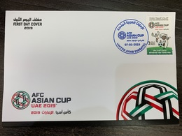 UAE 2019 Mnh Stamp FDC Asian Cup Football Championship - Emirats Arabes Unis