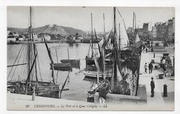 CHERBOURG - N° 29 - LE FORT ET LE QUAI CALIGNY AVEC PERSONNAGES ET BATEAUX - CPA NON VOYAGEE - Cherbourg