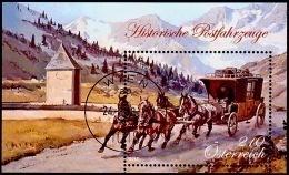 Austria Österreich 2018  Blockausgabe 100: Historische Postfahrzeuge (VI)USED / O / GESTEMPELT - 1945-.... 2. Republik
