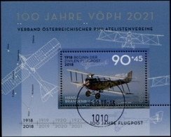 Austria 2018100 Jahre Flugpost; 100 Jahre Verband Österreichischer Philatelistenvereine GESTEMPELT/USED/O - 1945-.... 2. Republik